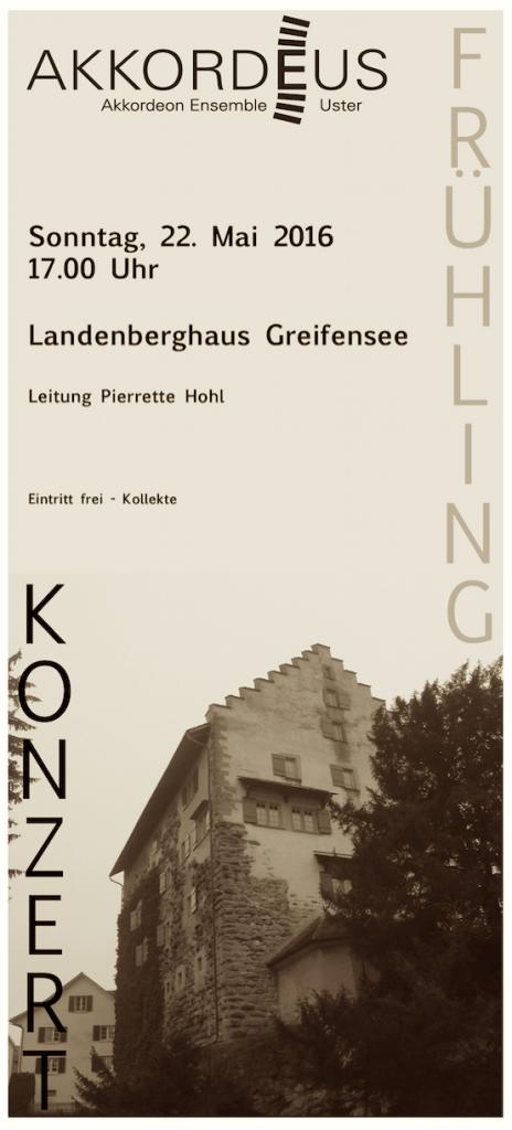 Flyer Konzert Greifensee